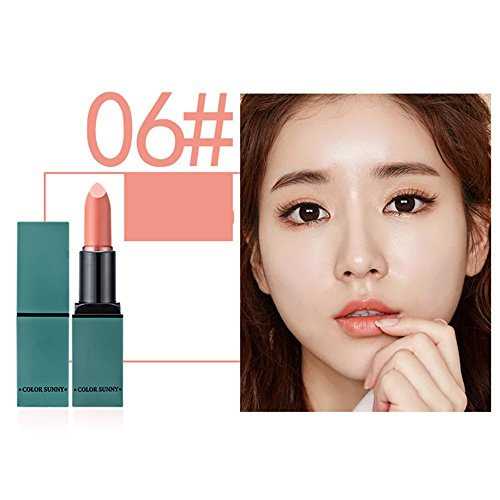 Velvet Matte lipstick Makeup Long Lasting 3.5g/0.12oz (Green tube - Pink 3.5g/0.12oz Makeup