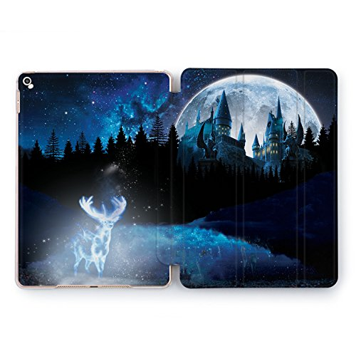 (Wonder Wild Patronus Print Case IPad 9.7 2017 A1822 A1823 2018 A1893 A1954 Air 2 A1566 A1567 6th Gen Clear Design Smart Hard Cover Colorful Harry Potter Fandom Deer Hogwarts)
