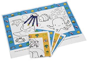 Classy Kid Keep Me Coloring Creative Germ Defense Placemat - Pack of 10 (Discontinued by Manufacturer)