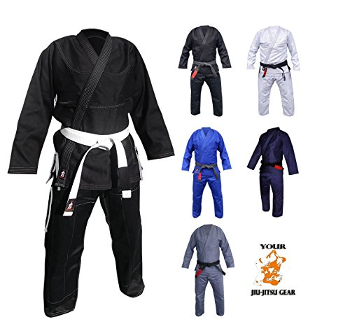 Your Jiu Jitsu Gear Brazilian Jiu Jitsu Premium Uniform A2 Black with Contrast