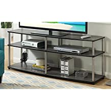 """Convenience Concepts 131060WGY Designs2Go 3-Tier TV Stand, 60"""", Weathered Gray"""