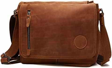 b3ef56860261 NBSAMENG Crazy Horse Leather High-Capacity Men Laptop Shoulder Bag  Messenger Bag