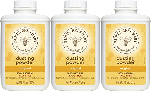 Burts Bees Baby Dusting Powder, 4.5 Ounces (Pack of 3) (Packaging May Vary)