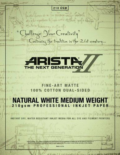 Canton Cotton (Arista II Fine Art Cotton Natural White 210Gsm 2-Sided Matte 13 x 19/25 (2445132))