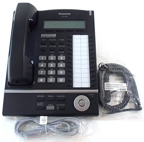 Price comparison product image Panasonic KX-T7630-B 24-Button 3-Line LCD Display Telephone (Certified Refurbished)