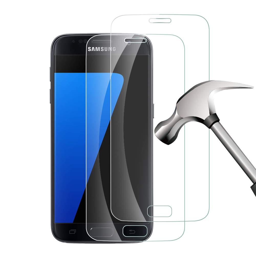 Galaxy S7 Protector de Pantalla,Galaxy S7 Cristal Templado Protector de Pantalla (2 Piezas) 9H Dureza,HD Clear Vidrio Templado Protector para Samsung Galaxy ...