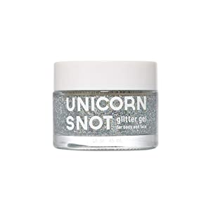 Unicorn Snot Holographic Body Glitter Gel - Vegan & Cruelty Free, Perfect for Festival, Rave, Costume, Sliver, 1.6 Ounces