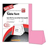 Digital Table Tents - 1,000 Pack (Bright Pink)
