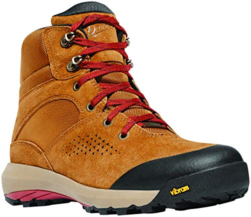 "Danner Women's 64530 Inquire Mid 5"" Waterproof Lifestyle Boot, Brown/Red - 9.5"