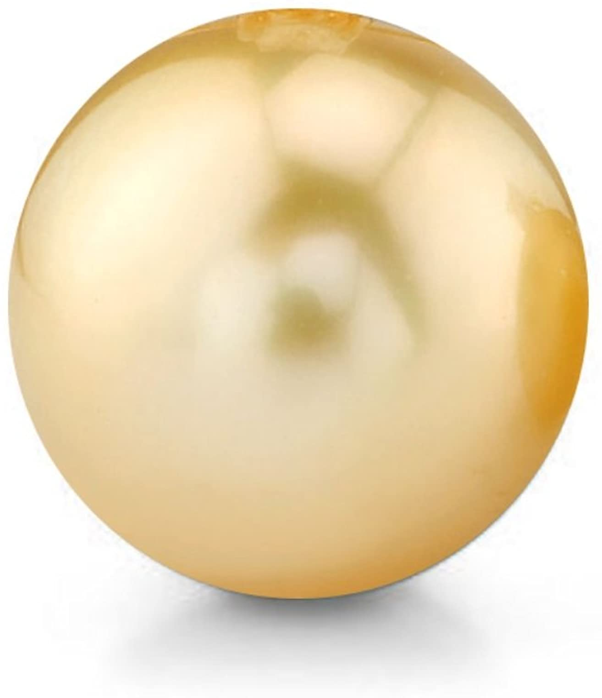 supply,jewelry Pearl Near Round South Sea Pearl Loose Pearl Yellow Green Pearl