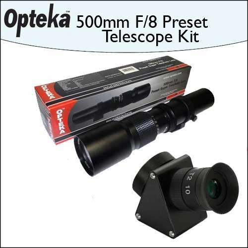 Opteka 500mm f/8 High Definition Preset Telephoto Lens + Lens Converter To Telescope Kit by Opteka