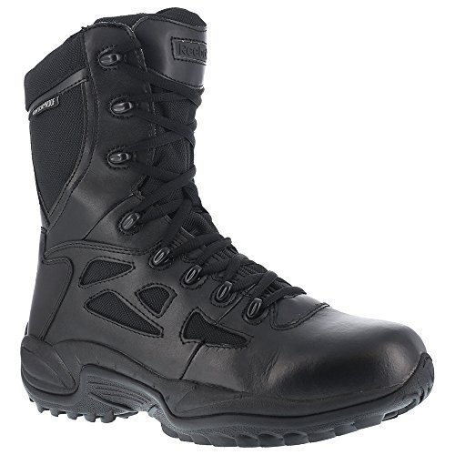 Reebok Work Women's Rapid Response RB RB877 Stealth 8'' Boot WP,Black,US 8.5 W by Reebok Work