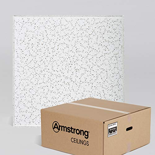Armstrong Ceiling Tiles; 2x2 Ceiling Tiles - Acoustic Ceilings for Suspended Ceiling Grid; Drop Ceiling Tiles Direct from the Manufacturer; CORTEGA Item 704 - 16 pc White Tegular