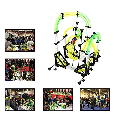 Pinleg AUTOFLIER AF665 Dual Track Competition Infrared RC Cars with Cranks 48pcs Track Children Kid Educational Develop Skills Toy Kid Gift for Toys Utensils US Shipment: Health & Personal Care
