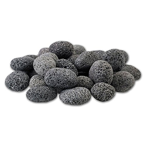 Fire Pit Gray Natural (Midwest Hearth 100% Natural Lava Stones for Gas Fire Pit and Fireplace (Small (1/2