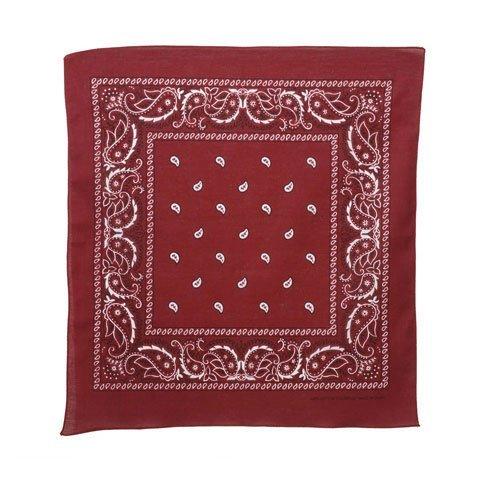 Bulk Buy: Darice DIY Crafts Bandana Burgundy Paisley 22 x 22 inches (12-Pack) 2701-73
