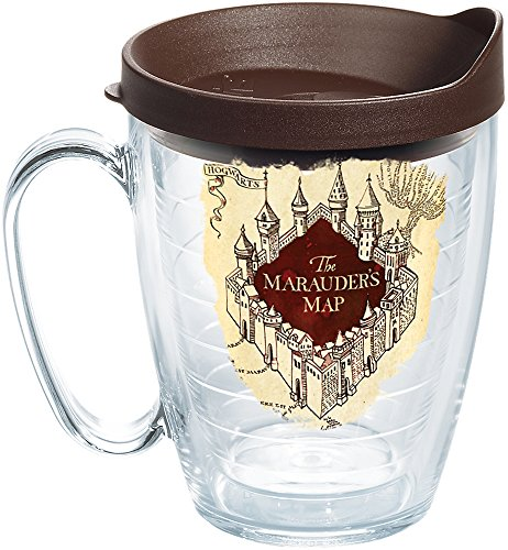 Tervis 1257890 Harry Potter-the Marauder's Map Insulated Tumbler with Wrap and Brown Lid, 16 oz Mug, Clear]()
