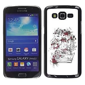 Be Good Phone Accessory // Dura Cáscara cubierta Protectora Caso Carcasa Funda de Protección para Samsung Galaxy Grand 2 SM-G7102 SM-G7105 // The Majestic Horse