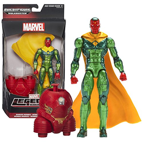 "Hasbro Year 2015 Marvel Legends Infinite Series Build a Figure ""HULKBUSTER"" Series 6-1/2 Inch Tall Action Figure - Marvel Heroes VISION with Removable Cape and Hulkbuster's Lower Abdomen"