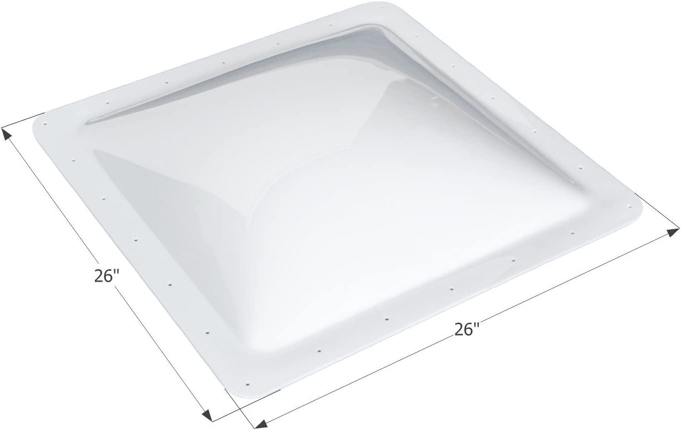 "ICON 01857 RV Skylight SL2222-22"" x 22"" x 4"", White"