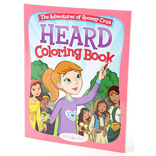 HEARD Children's Coloring Book - Bible Belles Adventures of Rooney Cruz Series