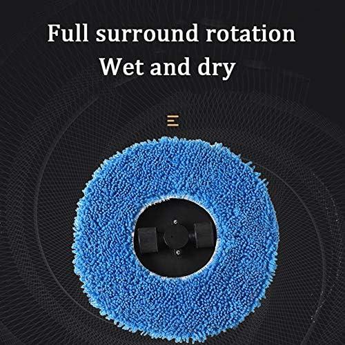 LAHappy Aspirateur Robot Laveur Super Fin Aspiration Forte Mode de Rotation Robot Aspirateur pour Poils d\'animaux Tapis Sols Durs