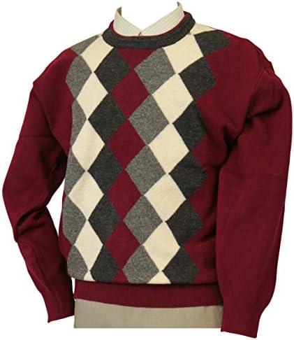 【Aspetiva】【M/L/LL】カシミヤ5%入り 10ゲージ クルーネックセーター 紳士/日本製