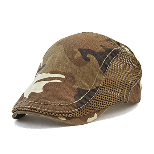 FayTop Men's Cotton Cap Newsboy Hat Ivy Irish Cabbie Scally Cap Cabbie Driving Flat Caps Hats 8712-light (Scally Flat)