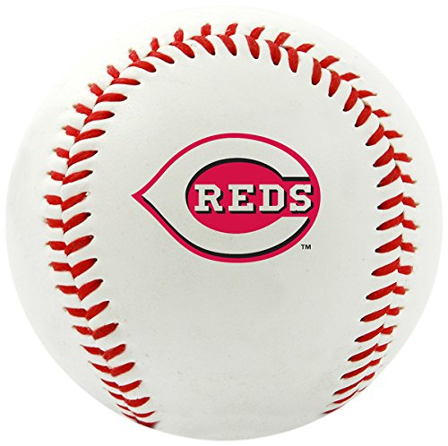 Sports Cincinnati Reds Baseball (MLB Cincinnati Reds Team Logo Baseball, Official, White)