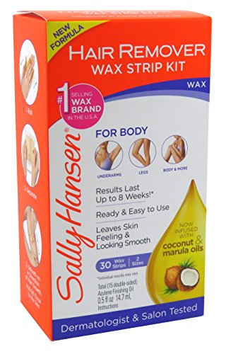Sally Hansen Hair Remover Wax Strip Kit Body/Leg/Arm/Bikini (2 ()