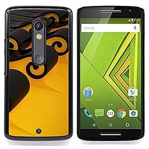 - Design Black Waves/ Hard Snap On Cell Phone Case Cover - Cao - For Motorola Verizon DROID MAXX 2 / Moto X Play