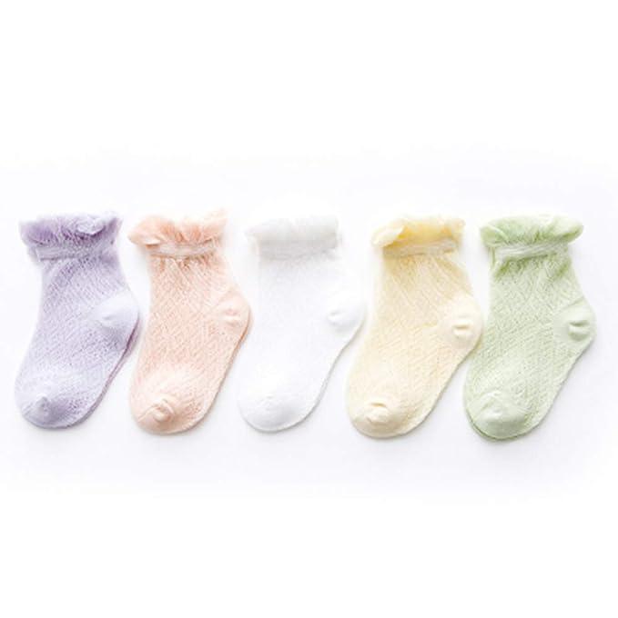 IKRR 5 piezas Babys Socks Calcetines para Bebes Niños Niñas Algodón ...