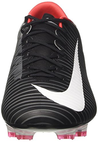 Nike Mens Mercurial Veloce Iii Fg Voetbal Cleat Zwart / Wit / Donkergrijs / Universiteit Rood 6 D Us Zwart / Wit / Donkergrijs / Universiteit Rood