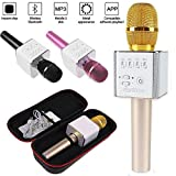 Q9 Mini Wireless Bluetooth Microphone Karaoke-2200mAh ,Amicool Portable Bluetooth Karaoke Player Speaker for Apple iPhone Android Smartphone Or PC, Home KTV Outdoor Party Muisc Playing Singing Anytime
