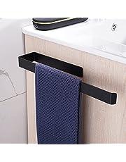 Aikzik Handdoekhouder zonder boren roestvrij staal handdoekstang zelfklevend 304 roestvrij staal wandmontage badkamer en keuken 36 cm zwart