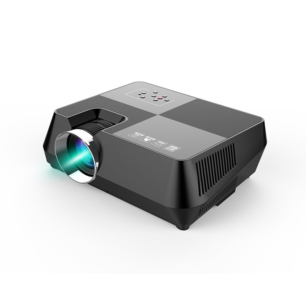 everyone gain 2000 Lumens LCD Mini Projector, Multimedia Home Theater Video Projection Support 1080P HDMI USB SD Card VGA AV for Family Cinema TV Laptop Game