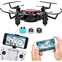 Best Choice Products 2.4GHz Folding Pocket Mini Drone w/ Altitude Hold, Smart Phone Control, WIFI Camera - Black