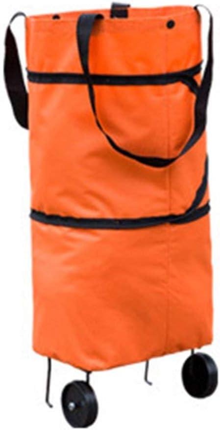Swiftswan Fashionable Design Large Capacity Waterproof Oxford Cloth Foldable Shopping Trolley Wheel Bag Luggage Bag