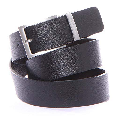 BOSS Hugo Boss Men's Reming Reversible Leather Belt, Black/Brown, 36