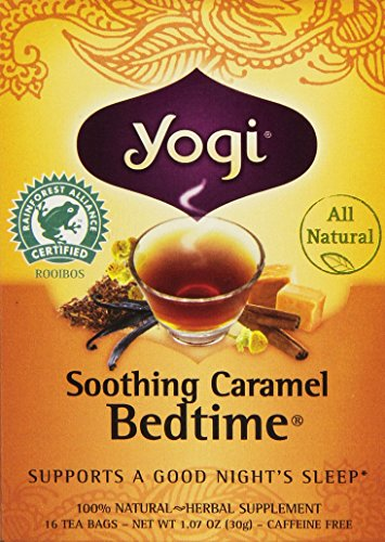 Yogi Bedtime Herbal Tea Caffeine Free Soothing Caramel, 16 Count - Yogi Caffeine Free Tea