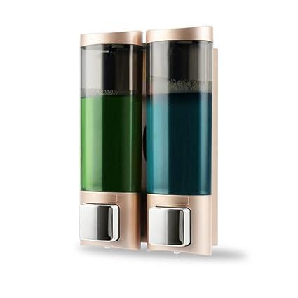 Jabón Dispensador De Pared Botón De Jabón Manual Dual Líquido Desinfectante De Manos Shampoo Caja De