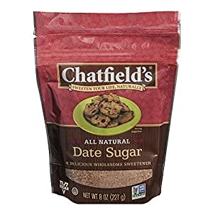 Chatfield's All Natural Granulated Date Sugar, 8 Ounce