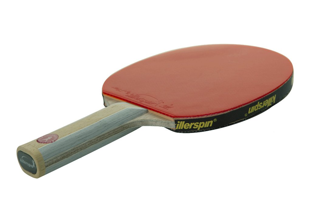 Killerspin Diamond CQ Table Tennis Paddle, Streight -Premium Ping Pong Paddle Featuring 2-ply Carbon and 5-ply Wood Construction With Fortissimo Rubbers