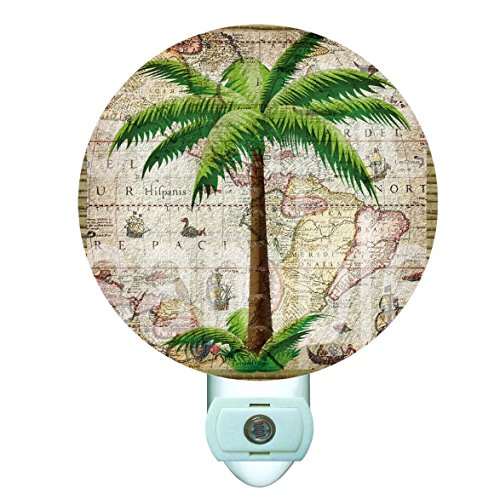 Classic Palm Decorative Round Night Light (Palm Tree Night Light)
