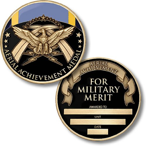 Air Force Aerial Achievement Medal Coin - Engravable Challenge Coin (Medal Coin Bronze)
