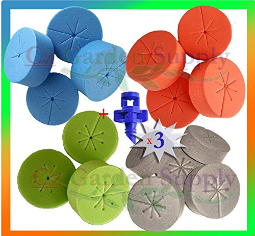 125 pack Cloning Collars Net Pot Inserts PREMIUM GRADE Foam Better Than Neoprene. Fits 2 inch Net Cups/Pots for Hydroponics Plant Germination for DIY Cloners & Clone Machines. From Cz Garden by Cz Garden Supply