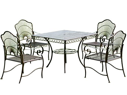 wrought iron patio dining set - 8