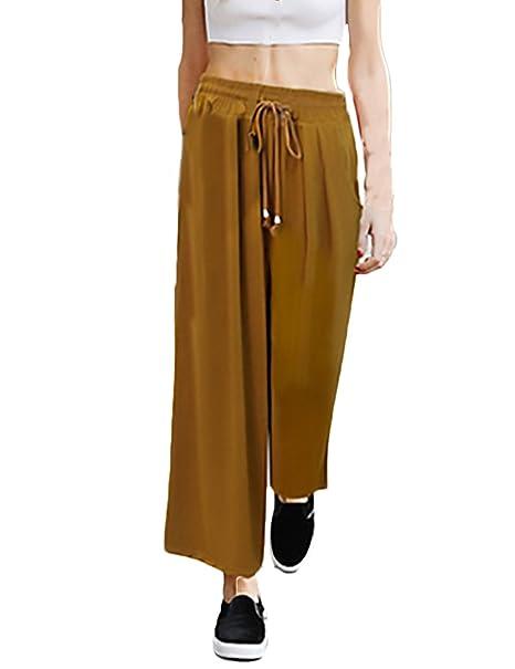 b1a98dc4d HaiDean Pantalon Mujer Verano Elegantes Talla Grande Pantalones ...