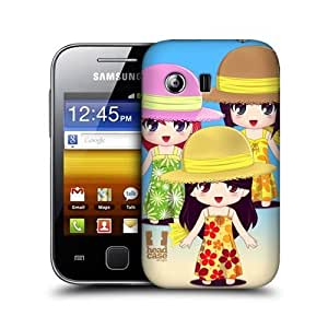 Group Chibi Summer Girls Design Protective Back Case Cover for Samsung Galaxy Y S5360