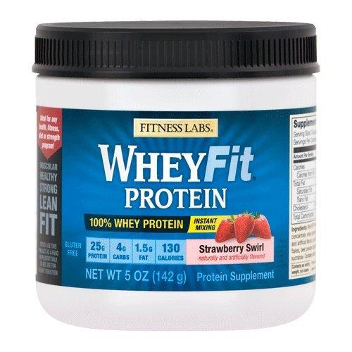 Nitro Tech Protein Shakes - Fitness Labs WheyFit Protein (5 Ounces, Strawberry Swirl)
